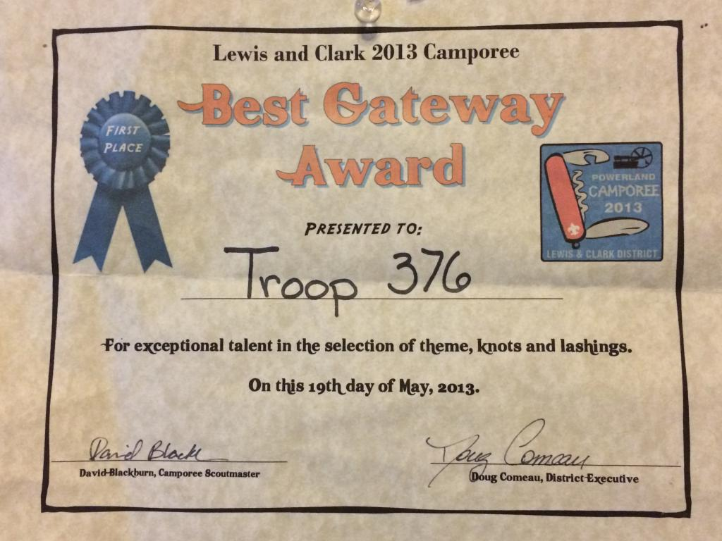 Camporee 2013 - Best Gateway